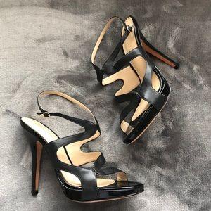 BCBGMaxazria Black Leather Heels size 9.5